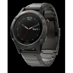 Спортивные часы FENIX 5 SAPPHIRE серые с металлическим браслетом